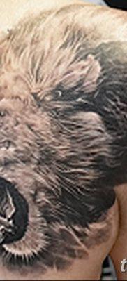 Фото тату голова льва от 08.08.2018 №123 – tattoo head of a lion – tatufoto.com