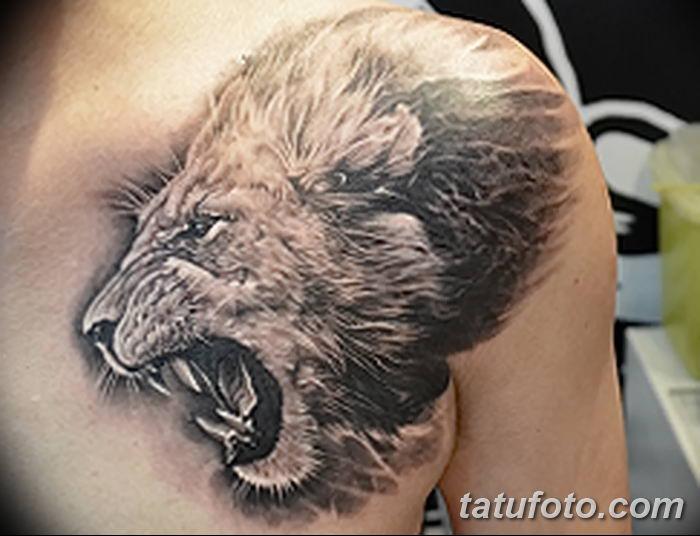Фото тату голова льва от 08.08.2018 №123 - tattoo head of a lion - tatufoto.com