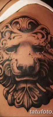 Фото тату голова льва от 08.08.2018 №127 – tattoo head of a lion – tatufoto.com