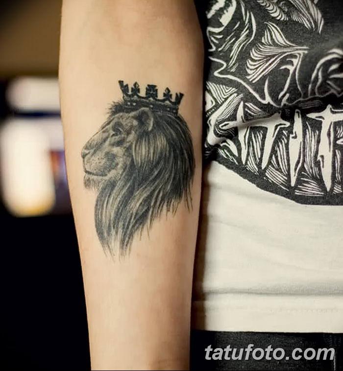 Фото тату голова льва от 08.08.2018 №128 - tattoo head of a lion - tatufoto.com