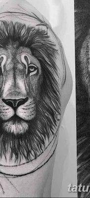 Фото тату голова льва от 08.08.2018 №129 – tattoo head of a lion – tatufoto.com