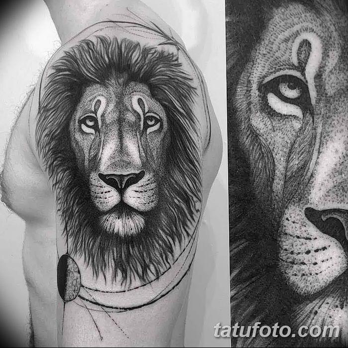 Фото тату голова льва от 08.08.2018 №129 - tattoo head of a lion - tatufoto.com