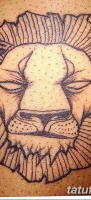 Фото тату голова льва от 08.08.2018 №131 – tattoo head of a lion – tatufoto.com