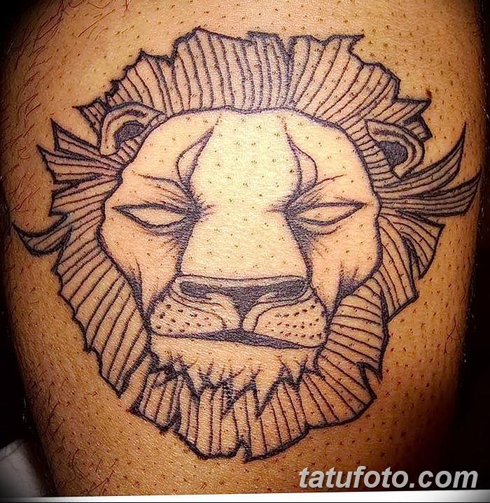Фото тату голова льва от 08.08.2018 №131 - tattoo head of a lion - tatufoto.com