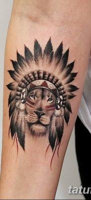 Фото тату голова льва от 08.08.2018 №132 – tattoo head of a lion – tatufoto.com