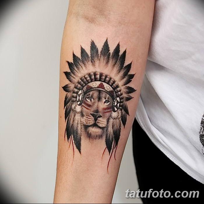 Фото тату голова льва от 08.08.2018 №132 - tattoo head of a lion - tatufoto.com