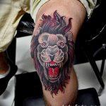 Фото тату голова льва от 08.08.2018 №134 - tattoo head of a lion - tatufoto.com