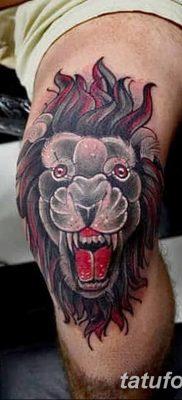 Фото тату голова льва от 08.08.2018 №134 – tattoo head of a lion – tatufoto.com