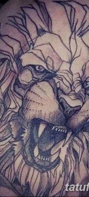 Фото тату голова льва от 08.08.2018 №135 – tattoo head of a lion – tatufoto.com
