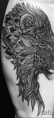 Фото тату голова льва от 08.08.2018 №137 – tattoo head of a lion – tatufoto.com