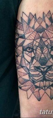 Фото тату голова льва от 08.08.2018 №139 – tattoo head of a lion – tatufoto.com