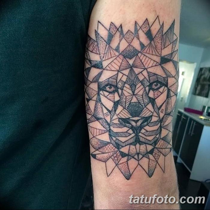 Фото тату голова льва от 08.08.2018 №139 - tattoo head of a lion - tatufoto.com