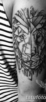 Фото тату голова льва от 08.08.2018 №140 – tattoo head of a lion – tatufoto.com
