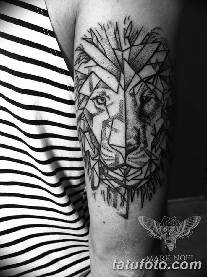 Фото тату голова льва от 08.08.2018 №140 - tattoo head of a lion - tatufoto.com
