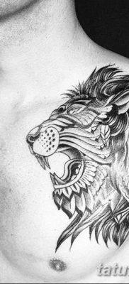 Фото тату голова льва от 08.08.2018 №141 – tattoo head of a lion – tatufoto.com