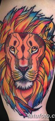 Фото тату голова льва от 08.08.2018 №142 – tattoo head of a lion – tatufoto.com