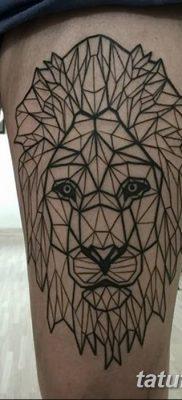 Фото тату голова льва от 08.08.2018 №143 – tattoo head of a lion – tatufoto.com