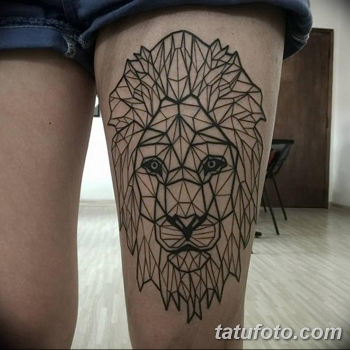 Фото тату голова льва от 08.08.2018 №143 - tattoo head of a lion - tatufoto.com