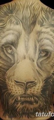 Фото тату голова льва от 08.08.2018 №144 – tattoo head of a lion – tatufoto.com