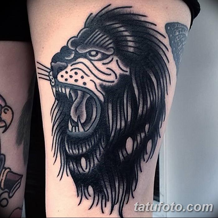 Фото тату голова льва от 08.08.2018 №146 - tattoo head of a lion - tatufoto.com