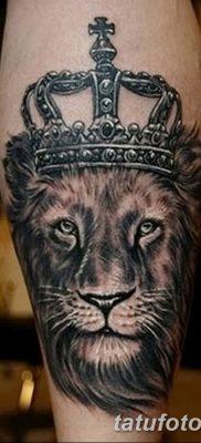 Фото тату голова льва от 08.08.2018 №148 – tattoo head of a lion – tatufoto.com