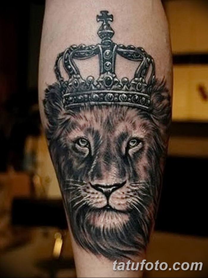 Фото тату голова льва от 08.08.2018 №148 - tattoo head of a lion - tatufoto.com
