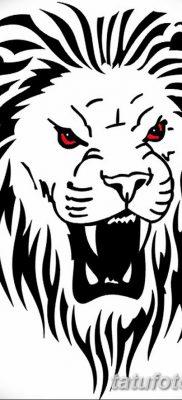Фото тату голова льва от 08.08.2018 №149 – tattoo head of a lion – tatufoto.com