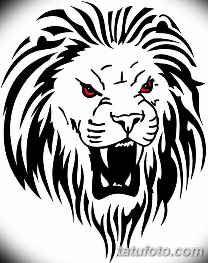 Фото тату голова льва от 08.08.2018 №149 - tattoo head of a lion - tatufoto.com