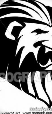 Фото тату голова льва от 08.08.2018 №182 – tattoo head of a lion – tatufoto.com