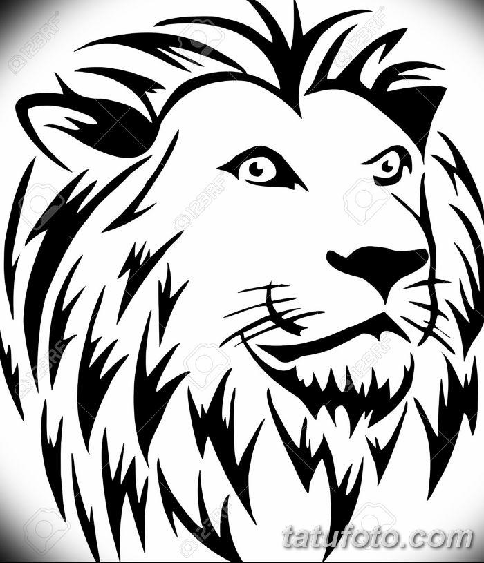 Фото тату голова льва от 08.08.2018 №184 - tattoo head of a lion - tatufoto.com