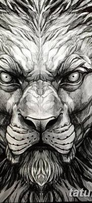 Фото тату голова льва от 08.08.2018 №189 – tattoo head of a lion – tatufoto.com