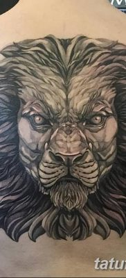 Фото тату голова льва от 08.08.2018 №190 – tattoo head of a lion – tatufoto.com