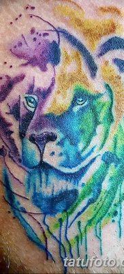Фото тату голова льва от 08.08.2018 №191 – tattoo head of a lion – tatufoto.com