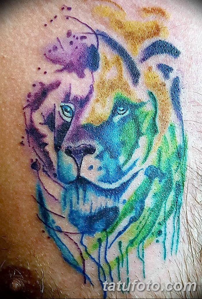 Фото тату голова льва от 08.08.2018 №191 - tattoo head of a lion - tatufoto.com