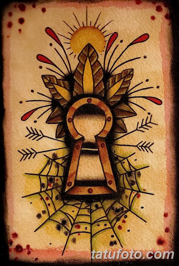 Фото тату замочная скважина 25.08.2018 №001 - keyhole tattoo - tatufoto.com