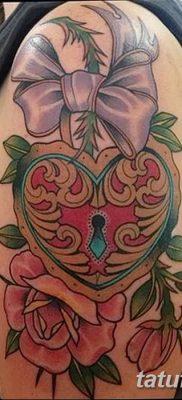 Фото тату замочная скважина 25.08.2018 №002 – keyhole tattoo – tatufoto.com
