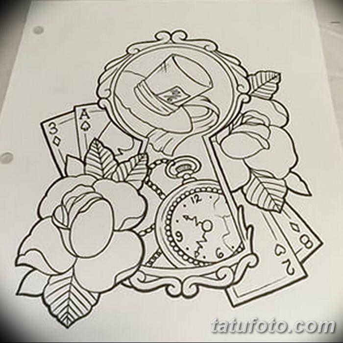 Фото тату замочная скважина 25.08.2018 №007 - keyhole tattoo - tatufoto.com