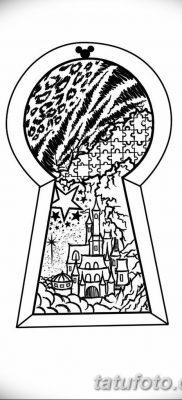 Фото тату замочная скважина 25.08.2018 №012 – keyhole tattoo – tatufoto.com
