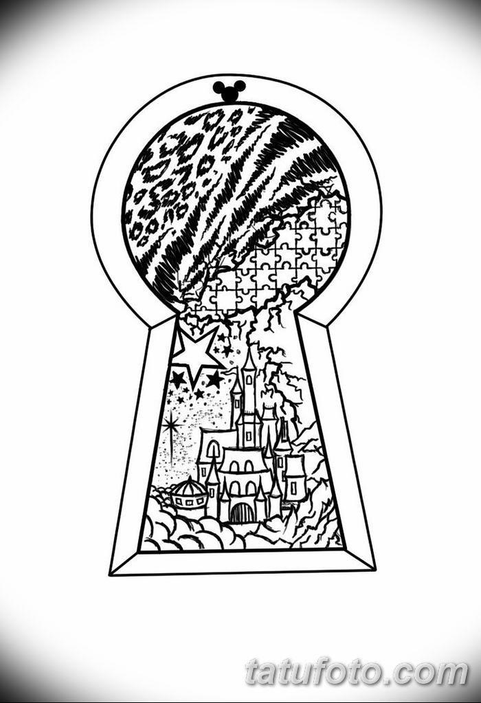 Фото тату замочная скважина 25.08.2018 №012 - keyhole tattoo - tatufoto.com