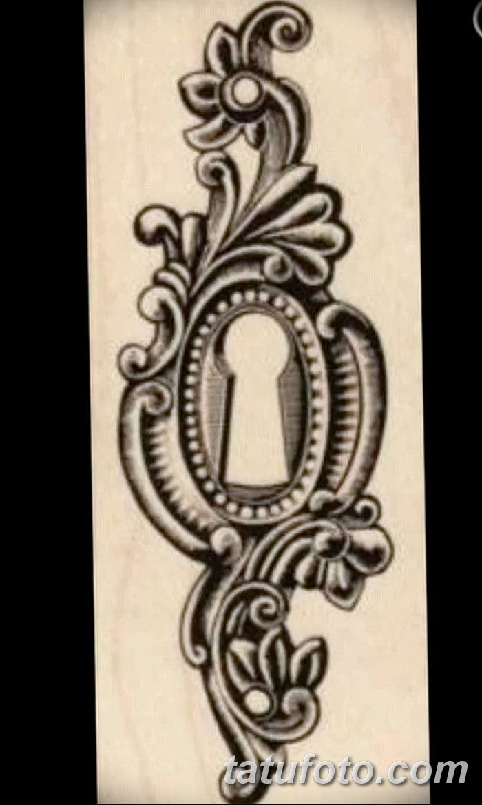 Фото тату замочная скважина 25.08.2018 №019 - keyhole tattoo - tatufoto.com
