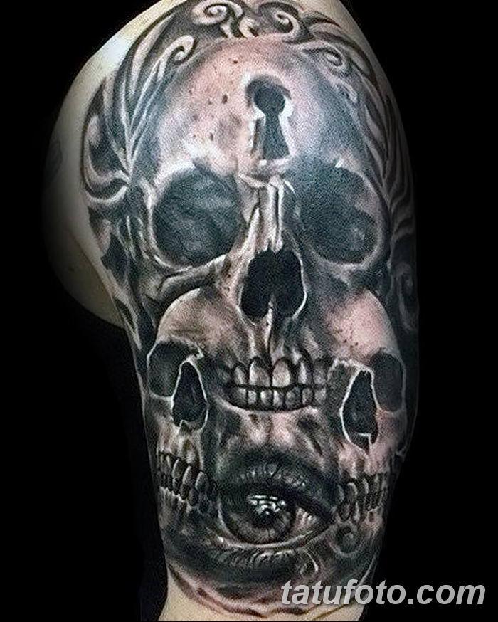 Фото тату замочная скважина 25.08.2018 №034 - keyhole tattoo - tatufoto.com
