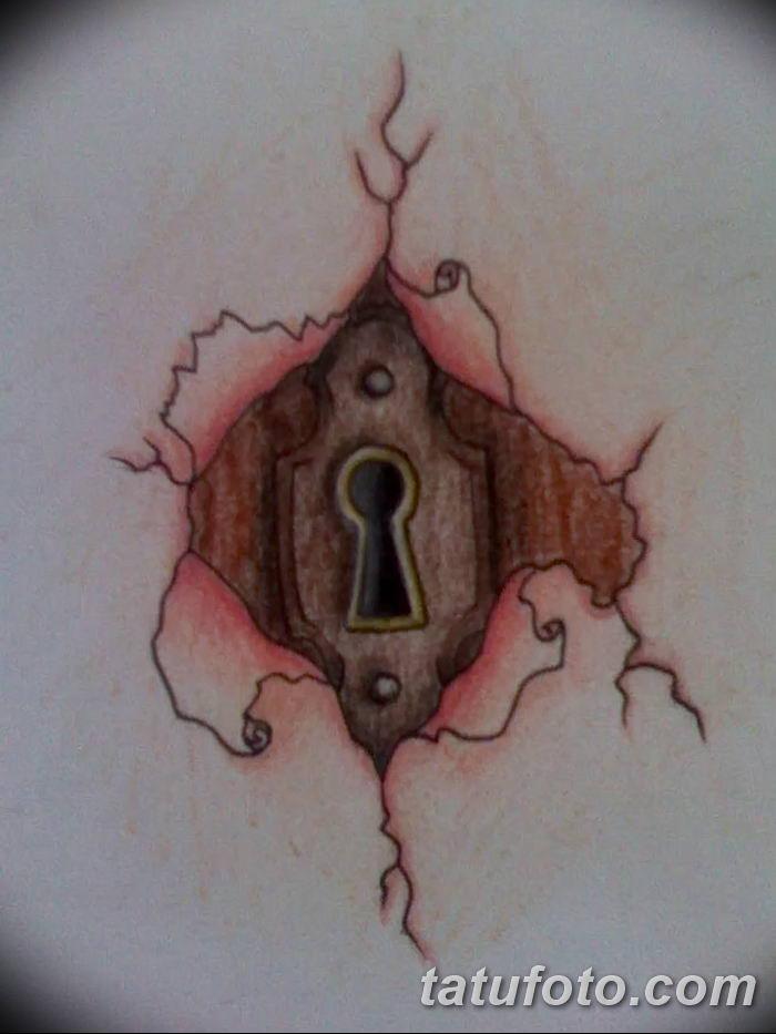 Фото тату замочная скважина 25.08.2018 №100 - keyhole tattoo - tatufoto.com