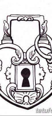 Фото тату замочная скважина 25.08.2018 №113 – keyhole tattoo – tatufoto.com