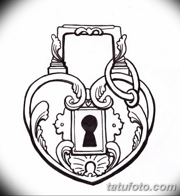 Фото тату замочная скважина 25.08.2018 №113 - keyhole tattoo - tatufoto.com