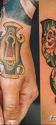 Фото тату замочная скважина 25.08.2018 №114 – keyhole tattoo – tatufoto.com