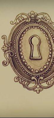 Фото тату замочная скважина 25.08.2018 №118 – keyhole tattoo – tatufoto.com