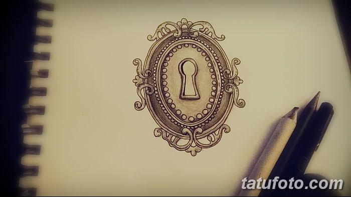 Фото тату замочная скважина 25.08.2018 №118 - keyhole tattoo - tatufoto.com