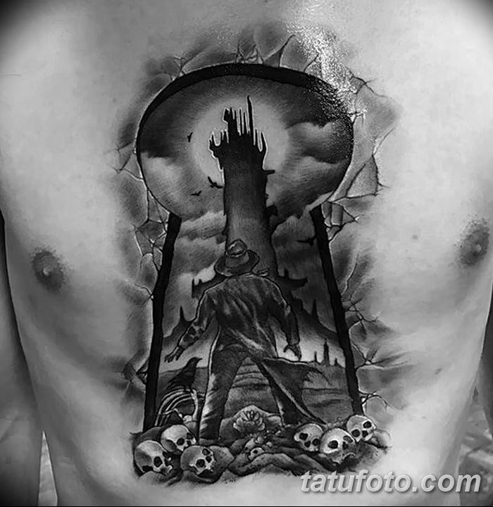 Фото тату замочная скважина 25.08.2018 №126 - keyhole tattoo - tatufoto.com