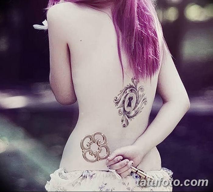 Фото тату замочная скважина 25.08.2018 №129 - keyhole tattoo - tatufoto.com