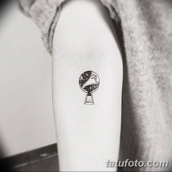 Фото тату замочная скважина 25.08.2018 №132 - keyhole tattoo - tatufoto.com